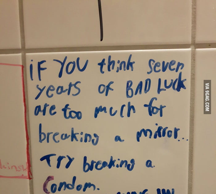 Some simple wisdom from a bathroom in Berlin. Can't argue.