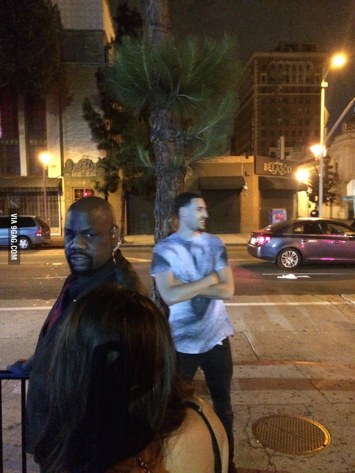 Klay Thompson tried to get into a club in LA last night, the bouncer told him to go wait in line.