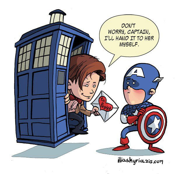 Doctor Who x Captain America. This heals a really big wound.