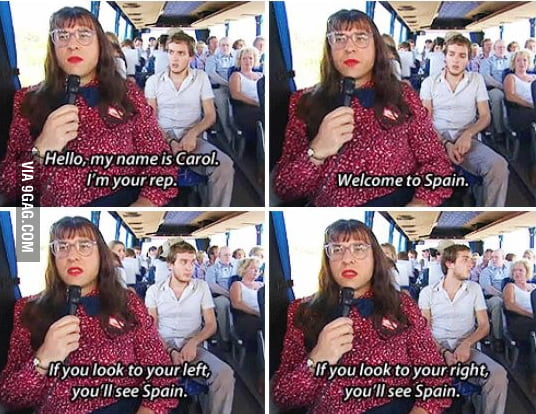 Me as a tour guide...