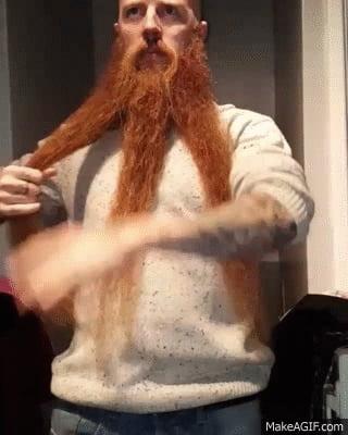 Braiding your beard like a real Viking