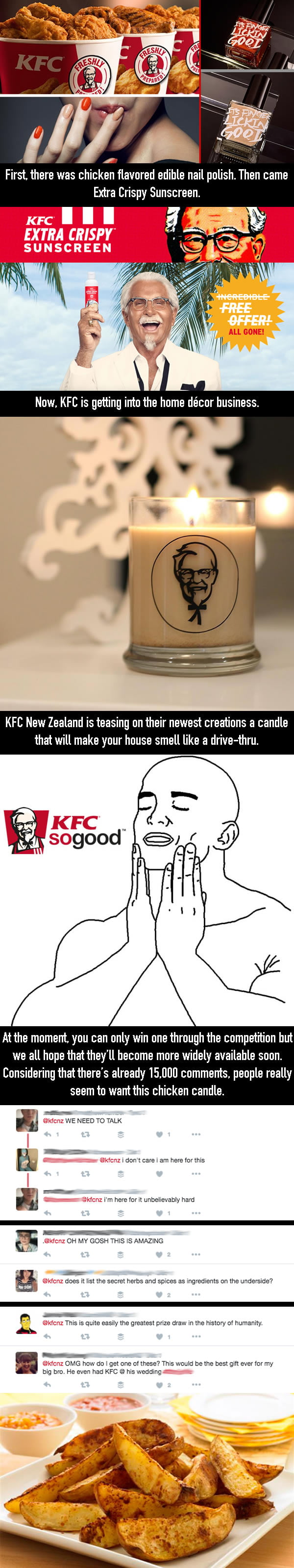 KFC Releases Scented Candle If You Want Your House To Smell Like Fried Chicken