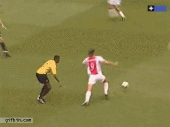 Young Ibrahimovic showing his skills