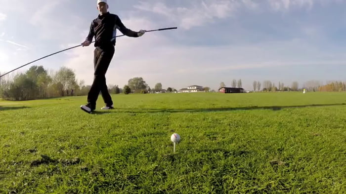 Golfing with a 15 foot driver