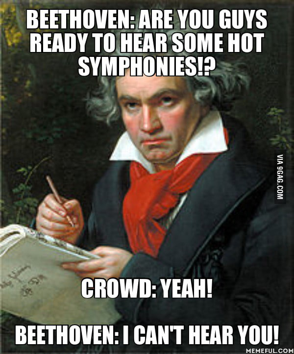 Beethoven before a concert.