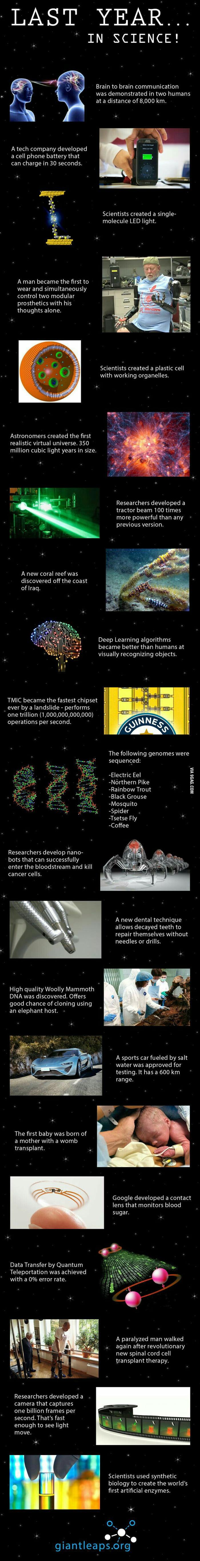Last year scientific breakthroughs