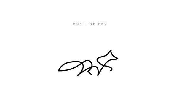 One line fox - for someone who wants to change their signature :3