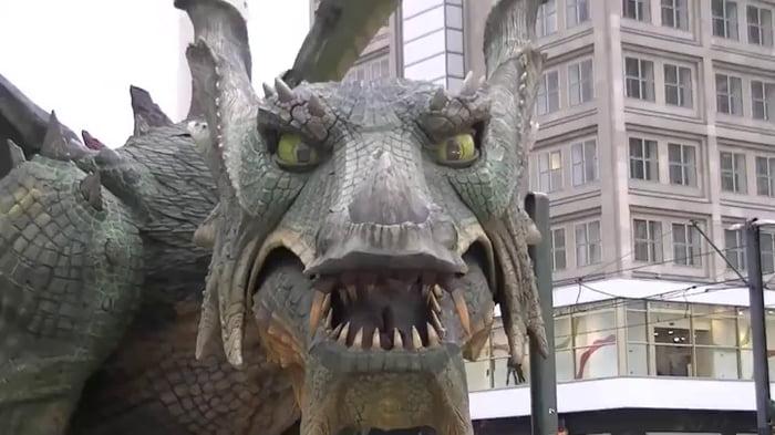 Mechanical dragon.