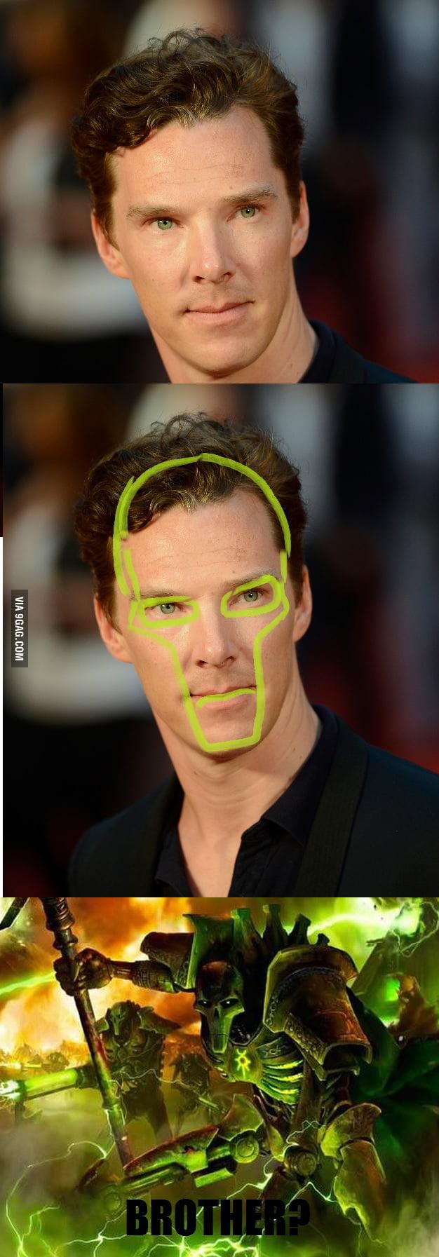 Benedict Cumberbatch's cheekbones explained.