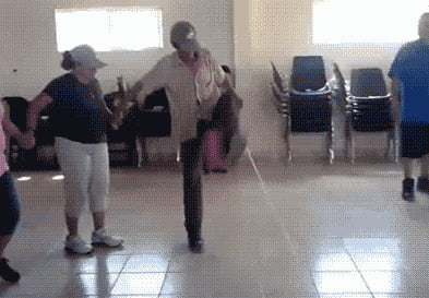 Who the hell try to jump a rope like that?! She didn't even try to land on her feet!