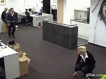 Fun at the office when the boss is gone