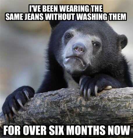 An actual confession. Wearing them right now