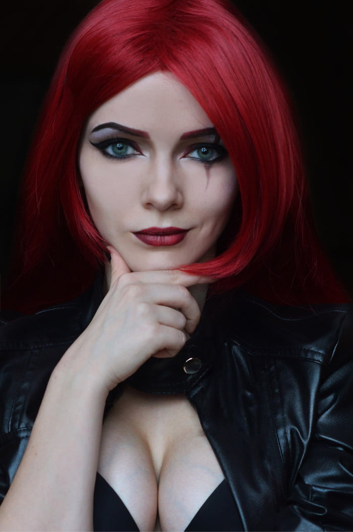 My own Katarina's makeup - League of Legends