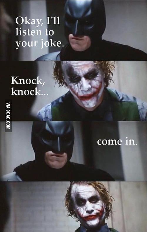 Batman doesn't play games