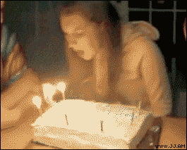 Well that's one way to ruin the cake...