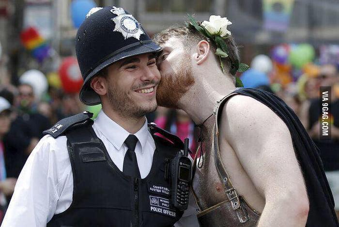 Policeman at Pride (London)
