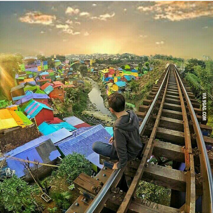 Come Visit This Place Colourful Village Malang City Indonesia I Love Funny Things