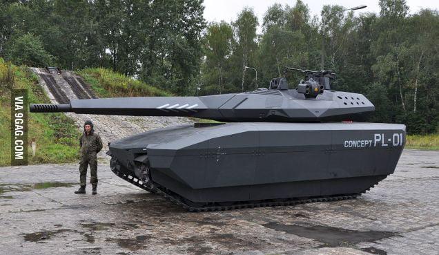 The Polish PL-01 Tank...
