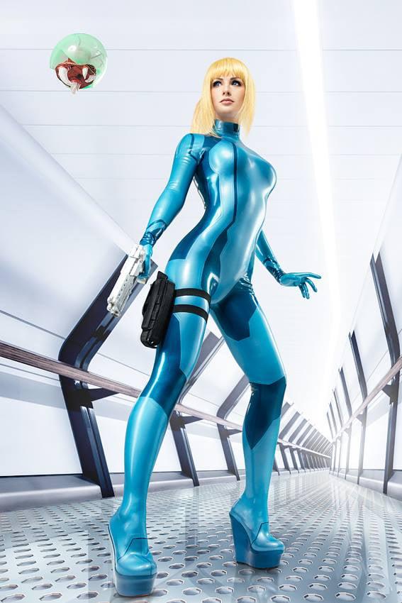 Maria Hanna as Zero Suit Samus