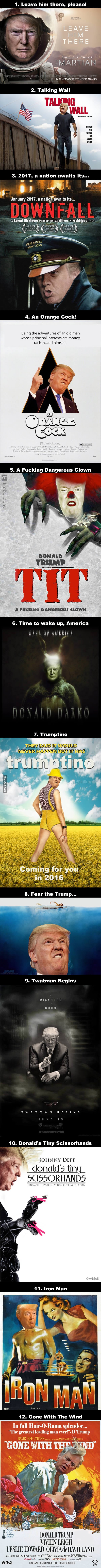 Photoshopping Donald Trump on movie posters is now a trend on the internet