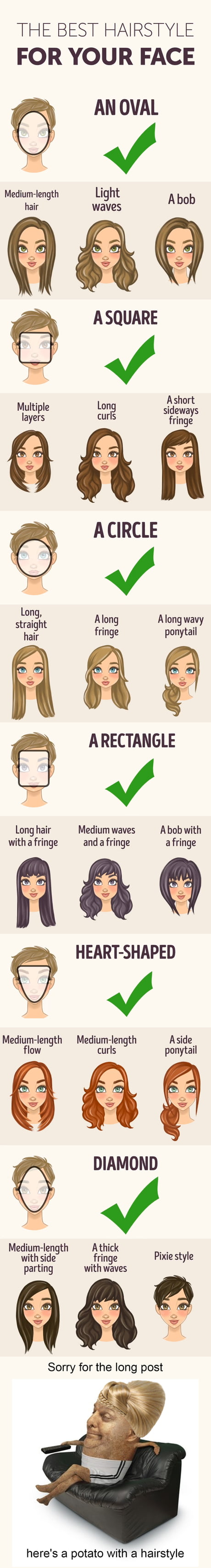 The best hairstyle for your face shape