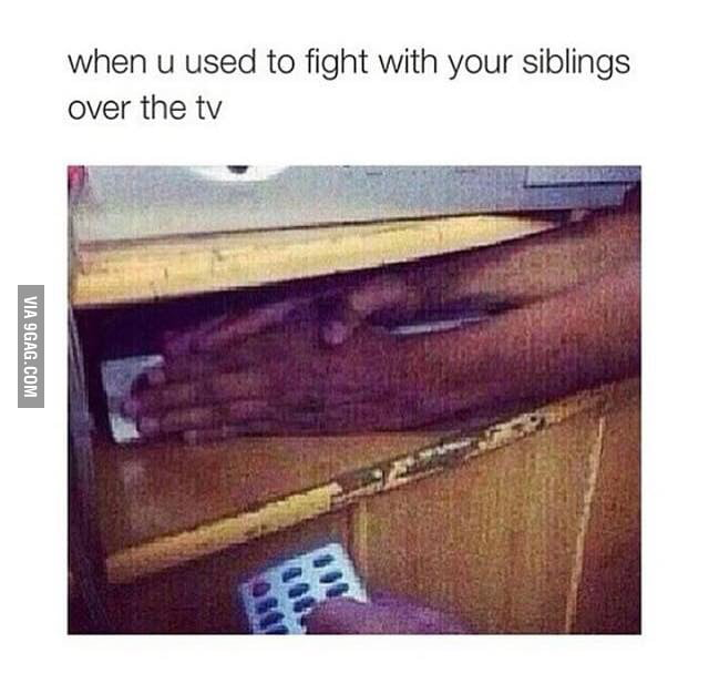 Fighting with siblings as a kid