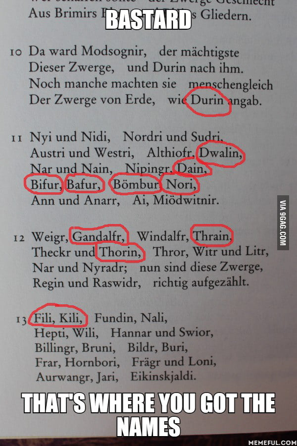I was reading the EDDA, old norse mythologie, the passage about the creation of the dwarves... when suddenly
