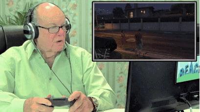 Grandpa playing GTA