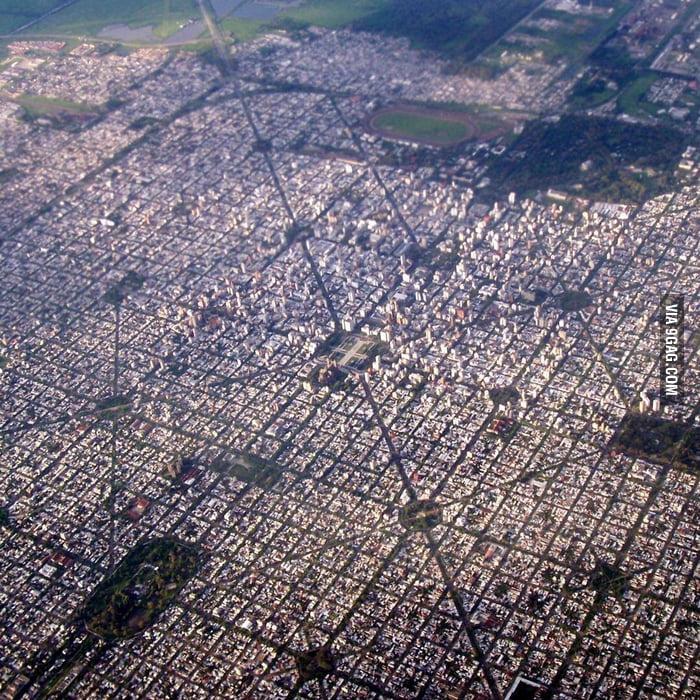 La Plata, Argentina. Diagonal streets.