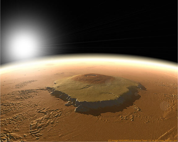 Another mars fact: this is the Olympus mans, a mountain who is 28 kilometers / 17,4 miles high