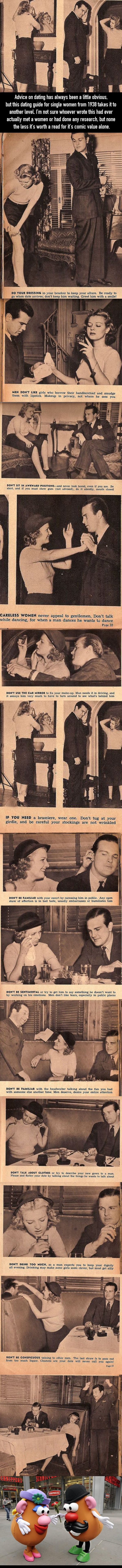 The 1930's was a rough time to be a lady dating. Dating guides in the 1930's were… extremely questionable