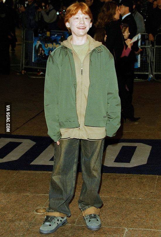 If you're ever a little unsure about your outfit, just remember that Rupert Grint went to his first premiere looking like this.