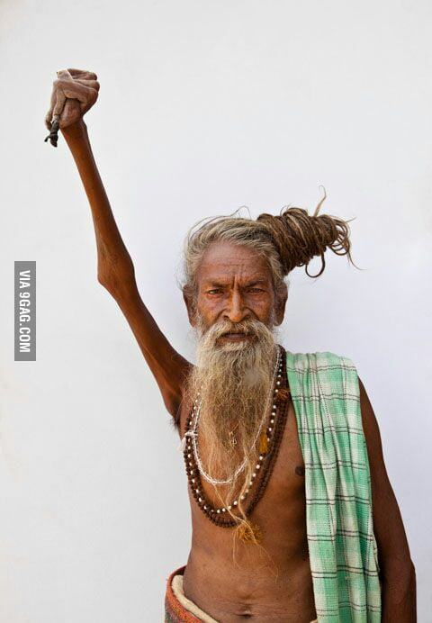 This man, Amar Bharti keeps his arm raised for 38 years