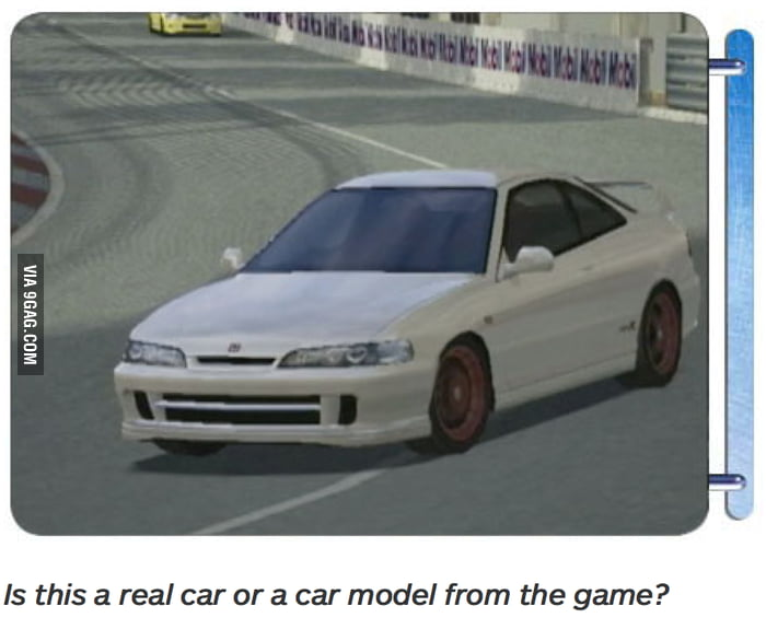 How far we've come: A caption from IGN's review of Gran Turismo 3, from August, 2001