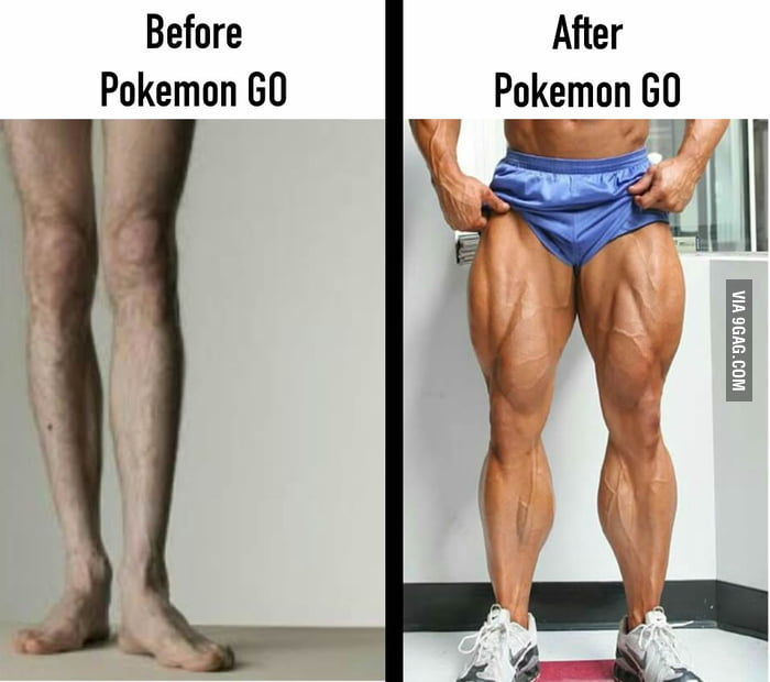 Before and After Pokemon GO...