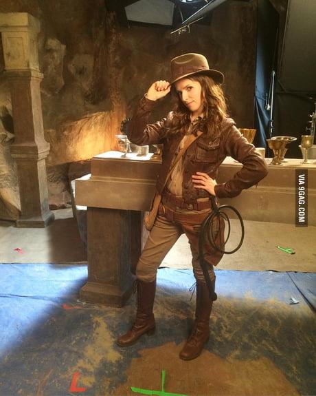 Anna kendrick as Indiana jones
