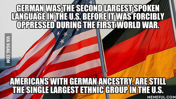 There were more than 500 German language newspapers being printed in the US before WWI as well.