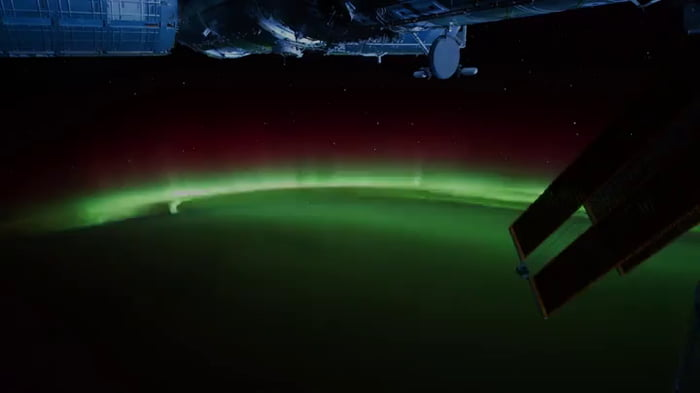 View of the Aurora Borealis from the ISS