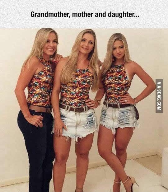 Grandma, mother, daughter.