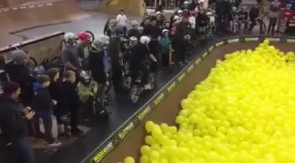 Riding through balloons