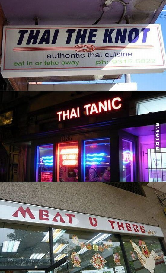Funny Food Shop Names
