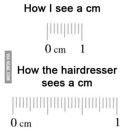 Every time I cut my hair..