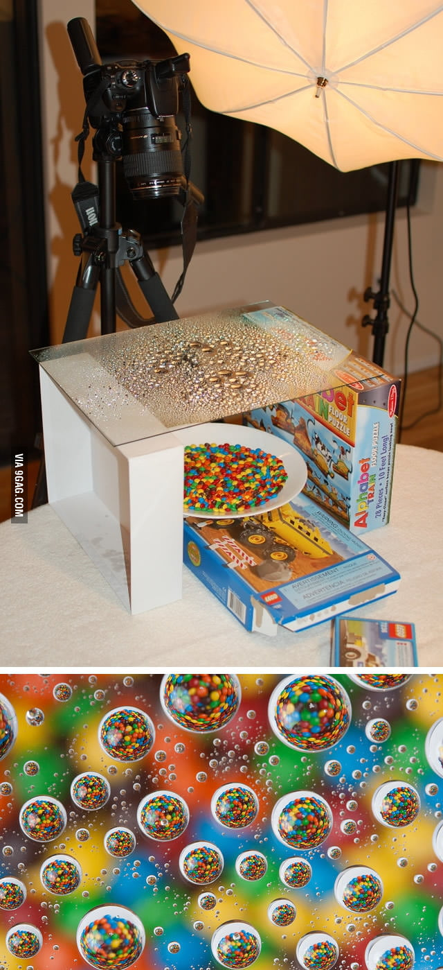 M&Ms and water drops