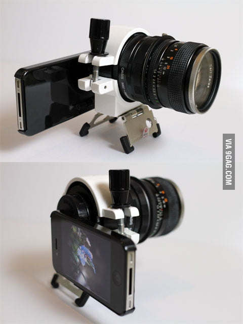 IPhone4 + DSLR lenses