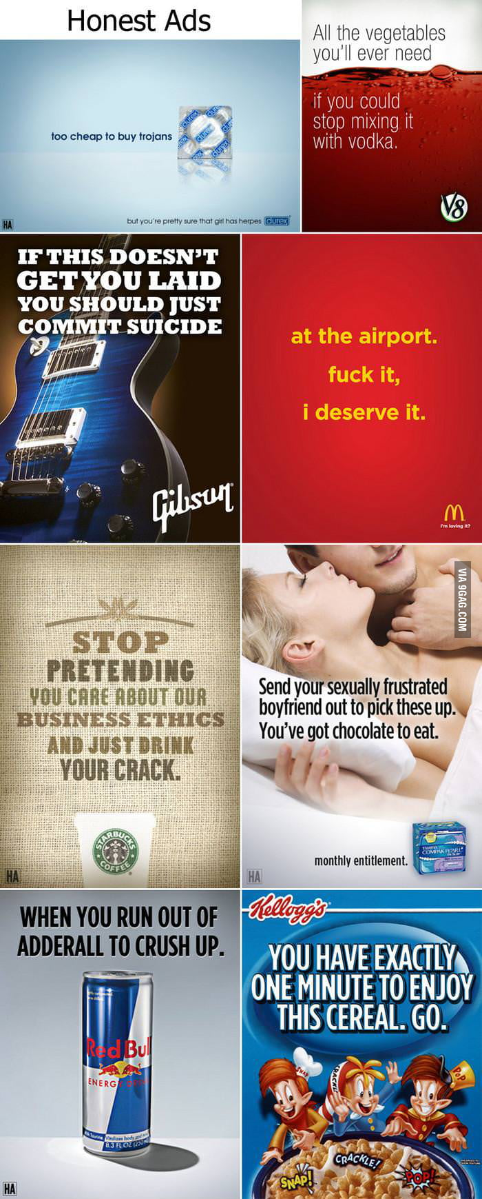 If advertisements were honest
