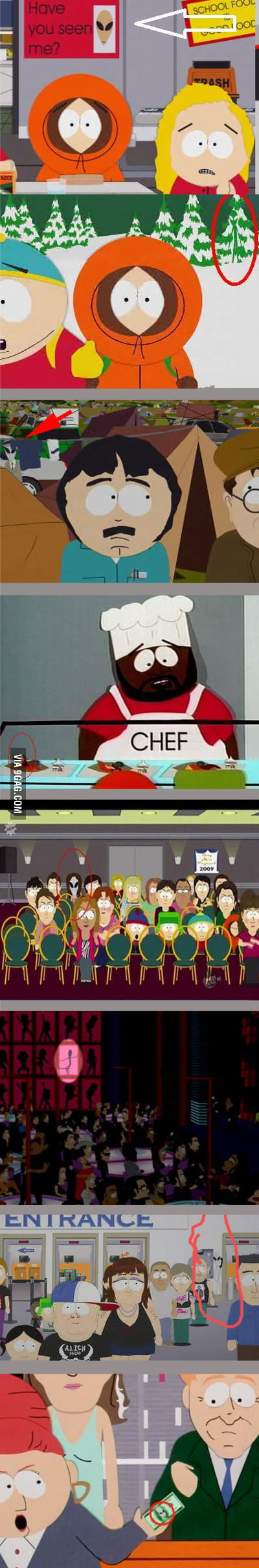 Hidden Aliens in South Park