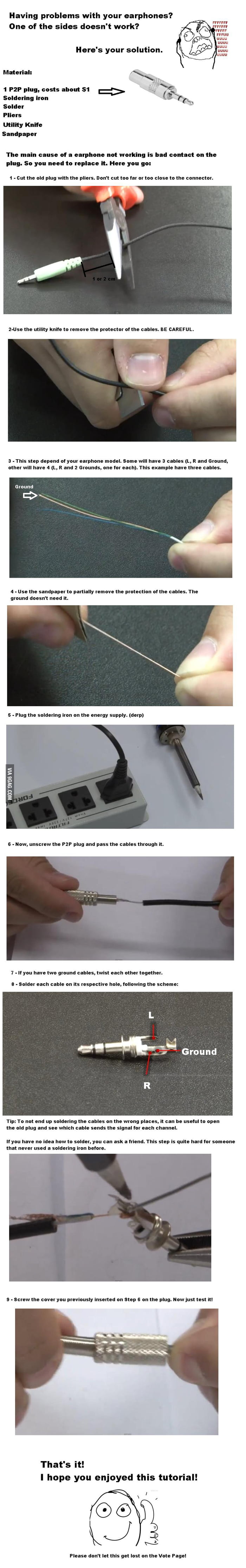 How to fix earphones