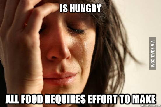 First World Cooking Problems