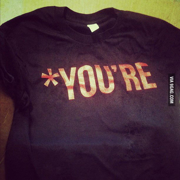 Grammar Nazi's Official Shirt!