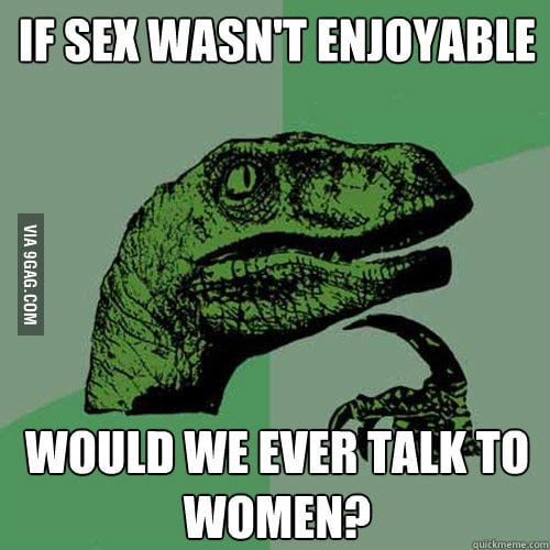 If sex wasn't enjoyable...